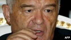президент Ислам Каримов на заседании ОДКБ в Душанбе. 2007 год