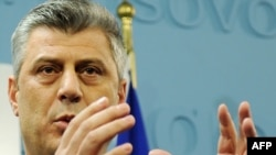 Kosovo -- Prime Minister Hashim Thaci talks to the media during a press conference in Pristina, 26Dec2010