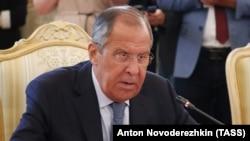 ՌԴ արտաքին գործոց նախարար Սերգեյ Լավրովը, արխիվ, Մոսկվա, 24 օգոստոսի, 2018թ.