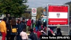 Izbeglice na slovenačko-austrijskoj granici 2015. godine, arhivska fotografija