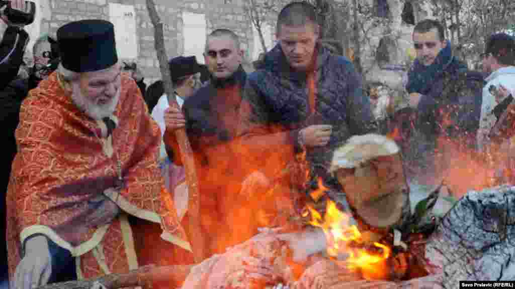 In Cetinje, Montenegro, a Yule log symbol is burned on Christmas Eve.
