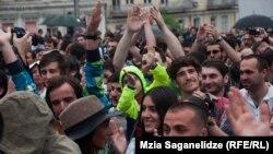 Վրաստան - Մարիխուանայի օգտագործումն ապաքրեականացնելու պահանջով ցույց Թբիլիսիում, արխիվ