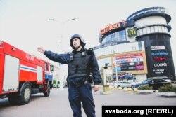 Эвакуацыя на чыгуначным вакзале ў Менску, 31 сакавіка 2019