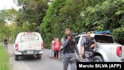 Pjesëtarë të policisë ushtarake në Brazil.