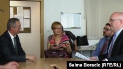 Philip Reeker u razgovoru sa šefom RSE redakcije u Sarajevu Milenkom Voćkićem