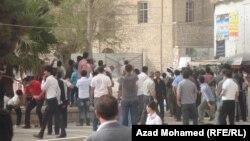 مشهد من مظاهرات سيد صادق في السليمانية