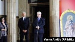 Сербия Президенти Борис Тадич ва Хорватия Президенти Иво Йосипич