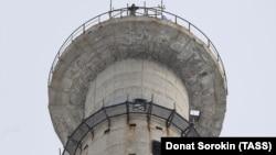 Верхняя часть недостроенной башни в Екатеринбурге