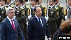 Francois Hollande Ermənistandadır