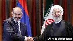 Հայաստանի վարչապետ Նիկոլ Փաշինյան և Իրանի նախագահ Հասան Ռոհանի, արխիվ