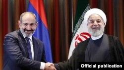 Հայաստանի վարչապետ Նիկոլ Փաշինյանի և Իրանի նախագահ Հասան Ռոհանիի հանդիպումը Նյու Յորքում, սեպտեմբեր, 2018թ․