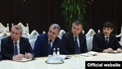 Tajikistan,Dushanbe city, Tajikist president meet ne appointed officials in Dushanbe 24January2020 (photo from tajik president website)