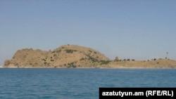 Turkey -- Akhtamar island in Lake Van, site of the 10th century Armenian church of Saint Cross, July 2009.