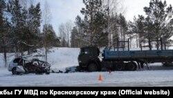 Фото аварии в Красноярском крае