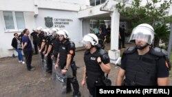Policija Crne Gore nakon hapšenja zvaničnika Opštine Budva, 17. juni 2020.