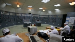 The central control room at the Zaporizhzhya nuclear power plant -- Europe's largest -- in the town of Enerhodar