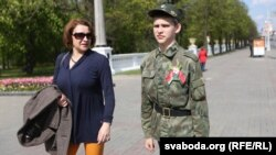 Belarusda ýurduň baýdagyny ýada salýan gyzyl-ýaşyl reňkli hem nagyşly bir lenta oýlanyp tapyldy.