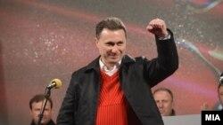 Никола Груевски на предизборен митинг на ВМРО-ДПМНЕ во Берово.