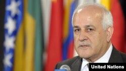 ریاض منصور پیشتر اعلام کرده بود که این تشکیلات برای پیوستن به ۱۵ کنوانسیون بینالمللی رسما اقدام کرده است.