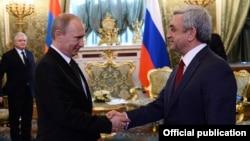 Հայաստանի և Ռուսաստանի նախագահների հանդիպումը Մոսկվայում, 8-ը մայիսի, 2014թ․