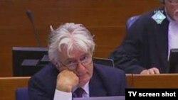 Radovan Karadžićokom na suđenju u Hagu,15. rujan 2010.