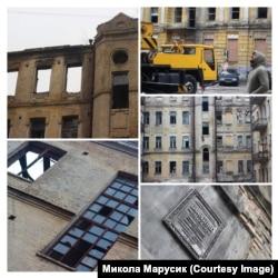 Руїни історичних пам'яток у центрі Києва