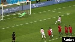 Эпизод матча между сборными Ирана и Португалии в Саранске, 25 июня 2018
