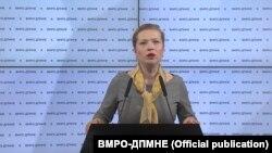 Иванка Василевска, членка на ИК на ВМРО-ДПМНЕ