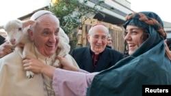 Папа Франциск на праздник Крещения, 6 января 2014