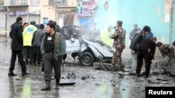 Ооганстандагы жардыруулардан бир көрүнүш. 13-январь, 2015-жыл, Кабул.