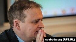 Юрыст Беларускай асацыяцыі журналістаў Алег Агееў, архіўнае фота