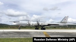 A Russian Tu-95 bomber (file photo)
