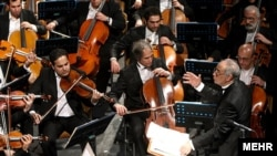 The Tehran Symphony Orchestra performing in February 2012