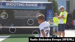 Фудбалска еуфорија во Скопје