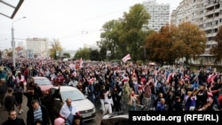 Пратэстны марш у Менску, 27 верасьня