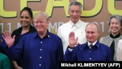 Владимир Путин и Дональд Трамп на саммите АТЭС в Дананге, 10 ноября 2017 года