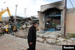 На місці вибуху в Кіркуку, 29 березня 2013 року