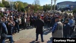 Протестное собрание в Элисте, 1 октября 2019 г.