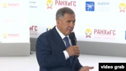 Рөстәм Миңнеханов Гайдар форумында