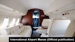 VIP-салон самолета Як-40. Фото пресс-службы Международного аэропорта «Манас».