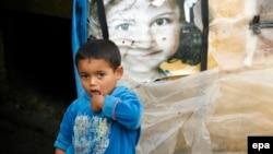 في مخيم للاجئين سوريين في لبنان