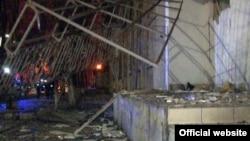 Одессада жарылыс болған орындардың бірі. 22 наурыз 2015 жыл.