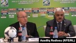 Sepp Blatter və Rövnəq Abdullayev