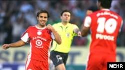 تیم پرسپولیس در آستانه بازی با استقلال توانست تیم پگاه گیلان را شکست دهد. عکس از خبرگزاری مهر