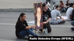 Протест против полициска бруталност организиран на повик на братот на убиениот Мартин Нешкоски, Александар во Скопје на 29 септември 2011 година.