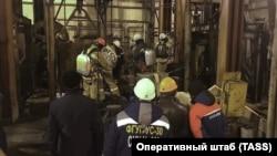 "Спасатели в шахте ""Уралкалия"" в Соликамске"