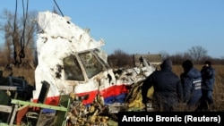 MH17 uchqichi qoldiqlari.