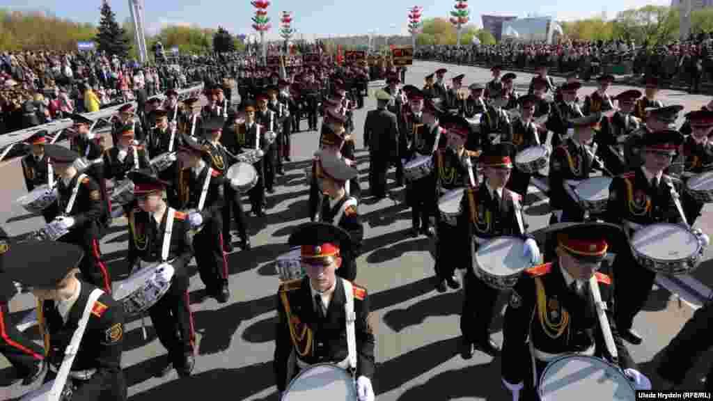 Во время парада один из участников потерял создание, но с чем это связано, пока неизвестно