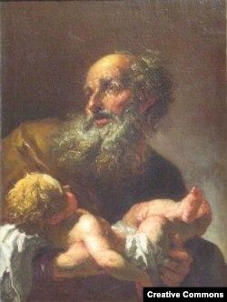 """Петр Брандль """"Симеон с младенцем Иисусом"""" (после 1725)"""