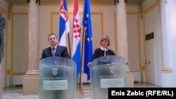 Ivica Dačić i Vesna Pusić u Zagrebu